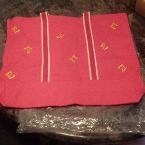 Handbags - Huge pink beach bag w/ butterflies